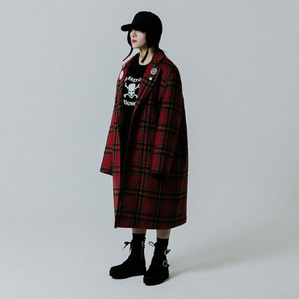 Tartan Other Plaid Patterns Casual Style Unisex Wool