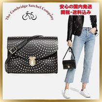 Cambridge Satchel Star Casual Style Studded Leather Shoulder Bags