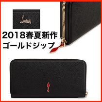 Christian Louboutin Panettone  Calfskin Plain Long Wallets