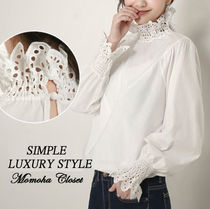 Lace Puff Sleeves Shirts & Blouses