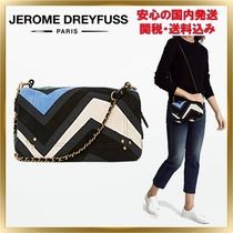 Jerome Dreyfuss 2WAY Chain Leather Elegant Style Shoulder Bags