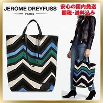 Jerome Dreyfuss Casual Style Unisex A4 2WAY Leather Totes
