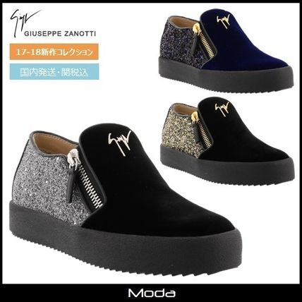 Plain Toe Casual Style Plain Low-Top Sneakers