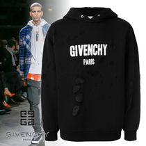 GIVENCHY Pullovers Street Style Long Sleeves Plain Hoodies