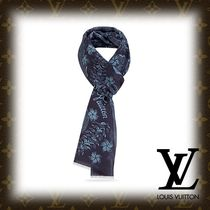 Louis Vuitton Flower Patterns Cotton Fringes Scarves
