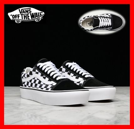 Vans Old Skool 2017 18aw Platform Lace Up Casual Style Street Style