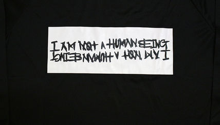 I AM NOT A HUMAN BEING Shirts Unisex Street Style Long Sleeves Plain Shirts 9