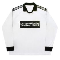 I AM NOT A HUMAN BEING Unisex Street Style Long Sleeves Plain Shirts