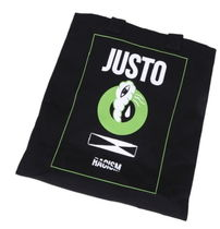 JUSTO Unisex Canvas Studded A4 Shoppers