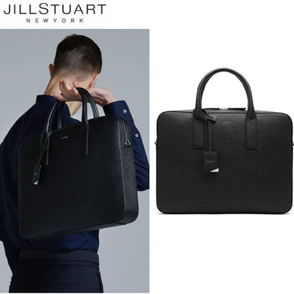 Street Style A4 2WAY Plain Leather Business & Briefcases