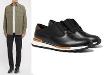 Berluti Bi-color Plain Leather Loafers & Slip-ons