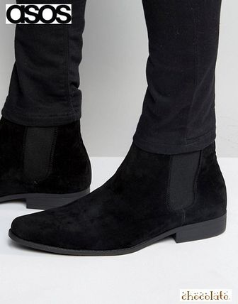 Suede Street Style Plain Chelsea Boots Chelsea Boots