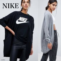 Nike Casual Style Street Style Long Sleeves Plain Cotton Long