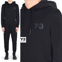 Y-3 Street Style Long Sleeves Plain Cotton Sweatshirts