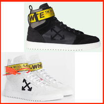 Off-White Blended Fabrics Street Style Plain Leather Sneakers