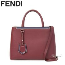 FENDI 2 JOURS 2Jours Petite Shopper Bag (Red/Purple)