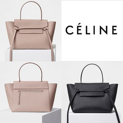 5f600fe53127 CELINE Belt 2018 SS A4 2WAY Plain Leather Elegant Style Handbags by ...