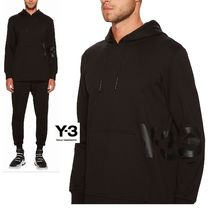 Y-3 Pullovers Street Style Long Sleeves Plain Cotton Sweatshirts