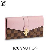 Louis Vuitton DAMIER Other Check Patterns Bi-color With Jewels Long Wallets