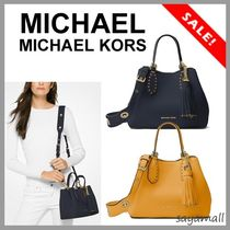 Michael Kors BROOKLYN Casual Style Tassel 2WAY 3WAY Plain Leather Totes