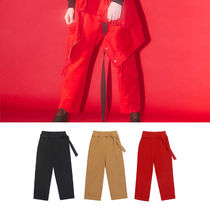 Charm's Slax Pants Unisex Street Style Plain Cotton Slacks Pants