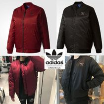 adidas Street Style Plain Medium MA-1 Fringes Bomber Jackets
