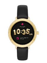 kate spade new york Leather Round Elegant Style Digital Watches