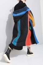 Oh Hey Girl Stripes Street Style Long Party Style Puff Sleeves Cardigans