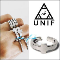 UNIF Clothing Casual Style Unisex Cross Street Style Silver Rings