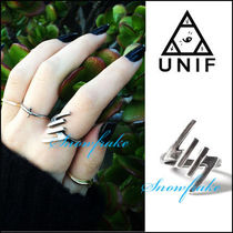 UNIF Clothing Casual Style Unisex Street Style Silver Rings