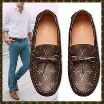 Louis Vuitton MONOGRAM Monogram Plain Toe Loafers Blended Fabrics