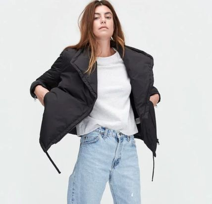 Casual Style Plain Medium Down Jackets