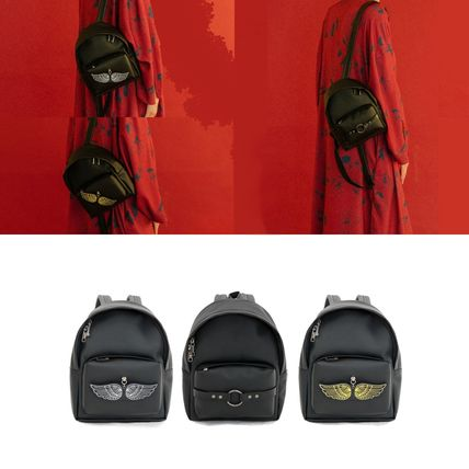 Unisex Faux Fur Street Style Plain Backpacks