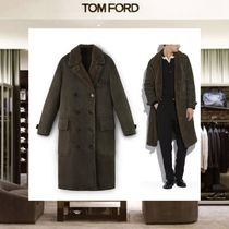 TOM FORD Suede Plain Long Chester Coats