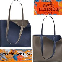 HERMES Leather Elegant Style Totes