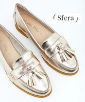 Sfera Plain Toe Moccasin Tassel Plain Party Style