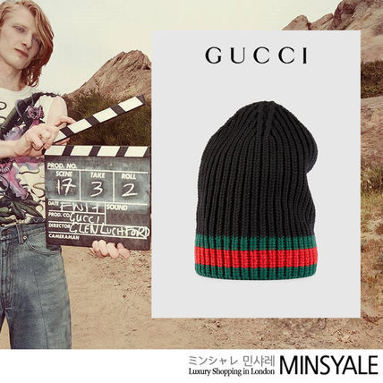 ... GUCCI Knit Hats Wool hat with Web  London department store new item  ... 21f084e72cc6