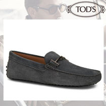 TOD'S Moccasin Suede Street Style Plain U Tips Loafers & Slip-ons