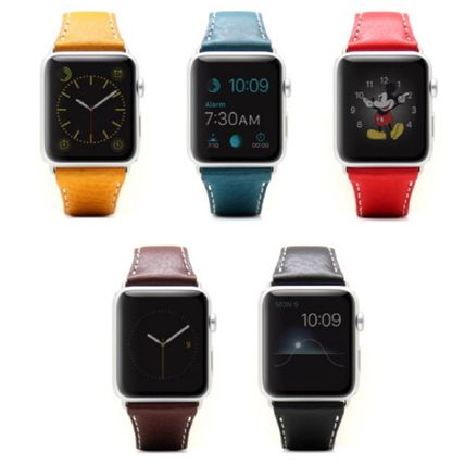 Casual Style Unisex Leather Square Watches