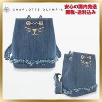 Charlotte Olympia Casual Style Chain Plain Other Animal Patterns Backpacks