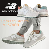 New Balance 574 Tropical Patterns Plain Toe Suede Blended Fabrics