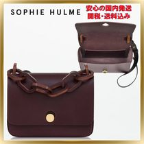 SOPHIE HULME Casual Style Unisex 2WAY Plain Leather Shoulder Bags