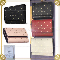 Christian Dior Star Leather Folding Wallets