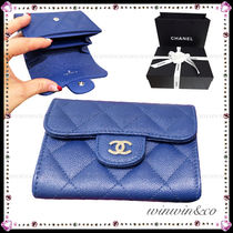 CHANEL Plain Leather Coin Cases