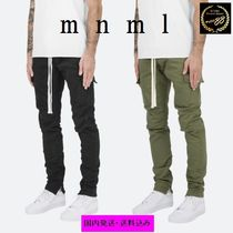 MNML Street Style Plain Cotton Khaki Cargo Pants