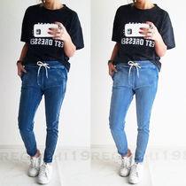 Casual Style Unisex Street Style Plain Cotton Short Length