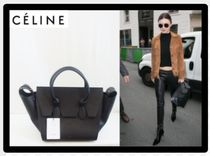 CELINE Tie Unisex 2WAY Plain Leather Elegant Style Handbags