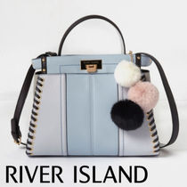 River Island Casual Style Faux Fur Plain Totes