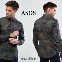 ASOS Button-down Camouflage Long Sleeves Cotton Shirts