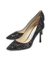 Jimmy Choo Blended Fabrics Plain Pin Heels Party Style Pumps & Mules